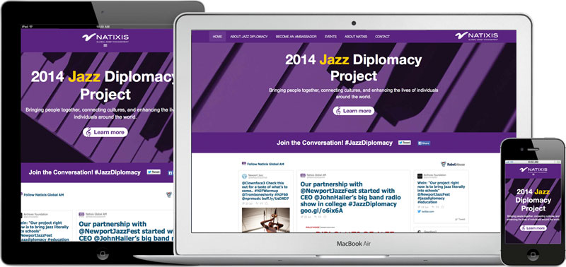 Natixis's Jazz Diplomacy web site